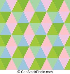 seamless, coloridos, triangulo, experiência., abstratos, têxtil, padrão