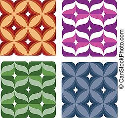 seamless, colorito, carta da parati, con, fiore, ornamentazione