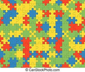 seamless, colorito, puzzle