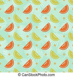 seamless colourful fruit with gold dot glitter pattern background