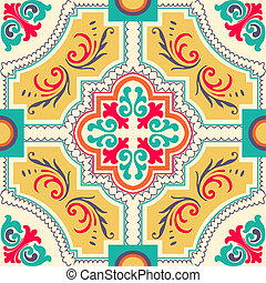 Seamless colourful ornament tiles - Background vintage ...