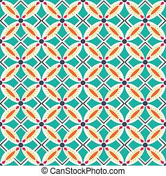 Seamless colourful ornament tiles