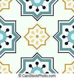Seamless colourful ornament tiles - Beautiful seamless...