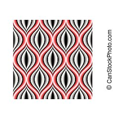 Seamless concentric shape background pattern.