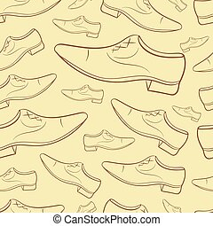Seamless contours male shoe