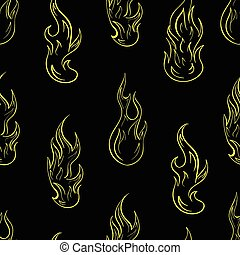 Seamless contours of fire