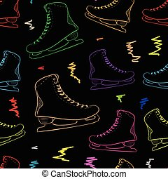 Seamless contours of the color skates