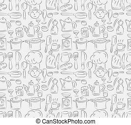 seamless cooking pattern  - seamless cooking pattern
