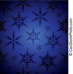 seamless, copo de nieve, plano de fondo