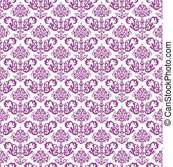 seamless, cor-de-rosa, floral, papel parede