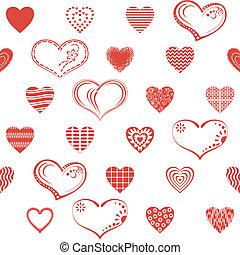 seamless, coração, valentine