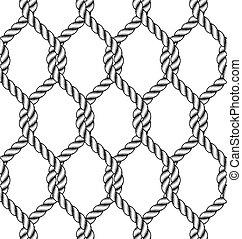 seamless, corda, nó, padrão
