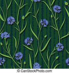 seamless cornflower green blue pattern background