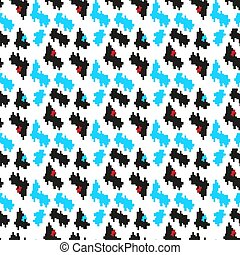Seamless corporate red, black blue and white houndstooth...