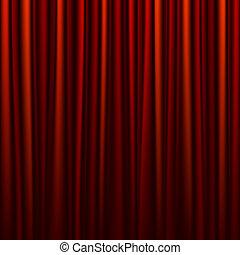 seamless, cortina vermelha