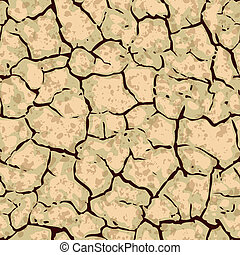 seamless cracked ground background pattern - vector seamless...
