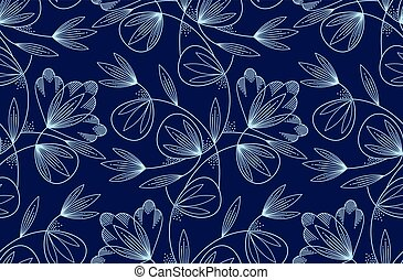 Seamless creative vector floral pattern