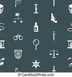 Seamless crime background texture