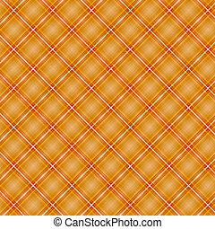 Seamless cross orange shading diagonal pattern, vector...