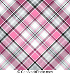 Seamless cross pattern - Seamless pink-gray-white cross...