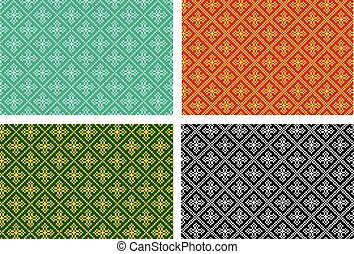 Seamless cross pattern in pixel vector design