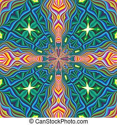 Seamless cross pattern