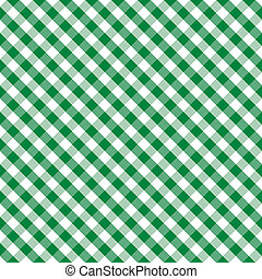 Seamless cross weave gingham pattern design in green and white for arts, crafts, fabrics, picnics and decorating, scrapbooks. EPS8 includes pattern swatch that will seamlessly fill any shape.