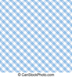 Seamless cross weave gingham pattern design in pastel blue and white for arts, crafts, fabrics, decorating, baby books, nursery, scrapbooks. EPS8 includes pattern swatch that will seamlessly fill any shape.