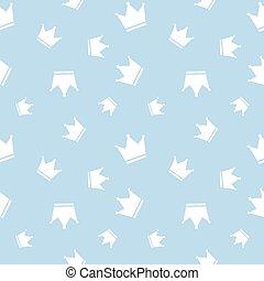 Seamless Crown Background Pattern