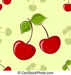 seamless, cseresznye, háttér