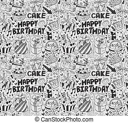 seamless, cumpleaños, patrón