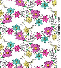 seamless, cute, coloridos, floral, fundo