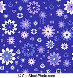 Seamless cute floral pattern. Vector background