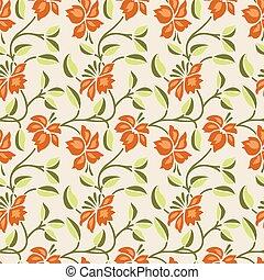 Seamless cute flower pattern design
