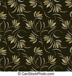 Seamless cute flower pattern