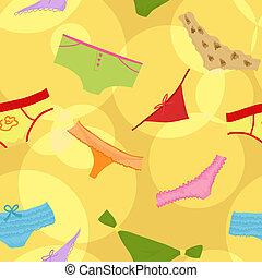 Seamless cute panties background