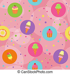 Seamless cute pastry background