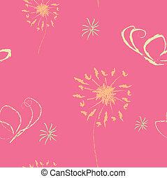 seamless cute pink wallpaper