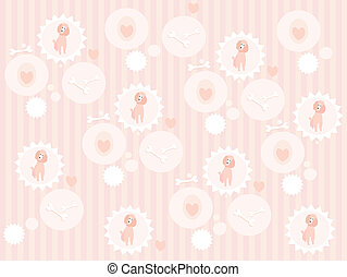 Seamless cute poodle pattern