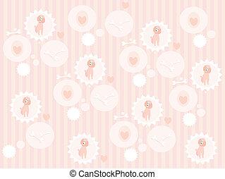 Seamless cute poodle pattern