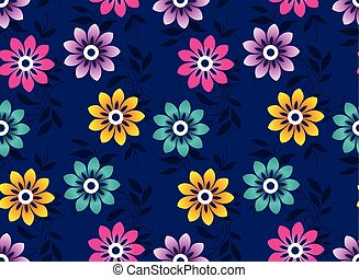 Seamless cute vector floral wallpaper