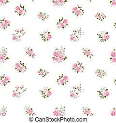 seamless cute vintage rose pattern - seamless cute vintage...