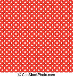 seamless, czerwony, kropka polki, tło