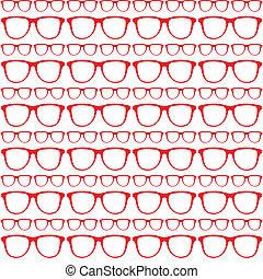 seamless, czerwony, próbka, od, sunglasses
