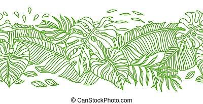 seamless, dłoń, próbka, leaves.