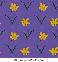Seamless daffodil pattern