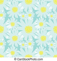 seamless daisy background vector illustration