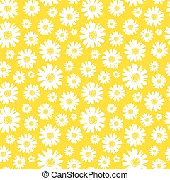 seamless daisy pattern and background vector illustration
