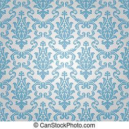 seamless, damasco, padrão, (vector)