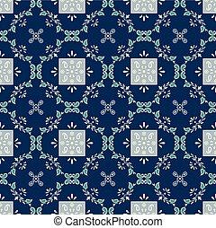 Seamless damask floral pattern